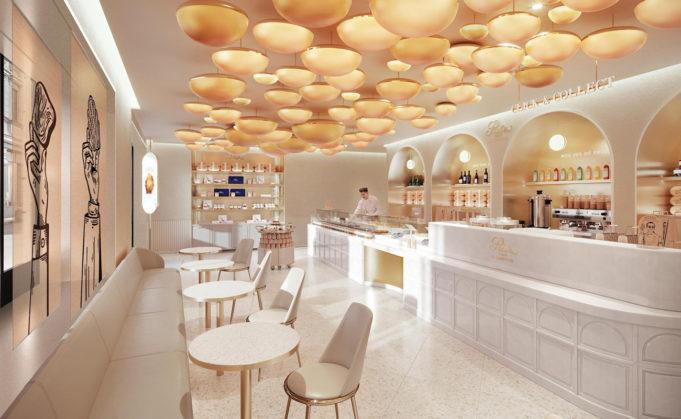 La pâtisserie Ritz de l'intérieur