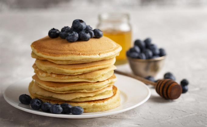 Pancake instantané aux bleuets